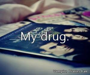 the vampire diaries, drug, and tvd image