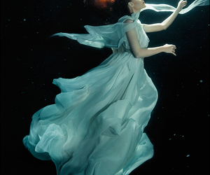 photography, water, and dress image