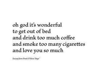 love, coffee, and text image