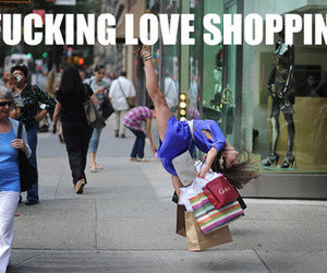 shopping, funny, and bags image