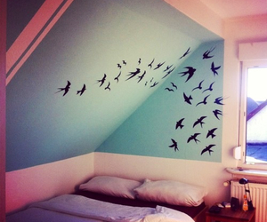 bedroom, birds, and freedom image