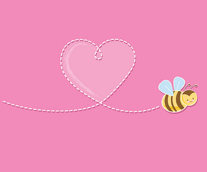 bee, heart, and valentine image
