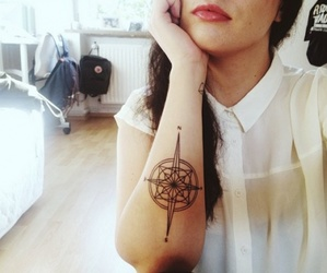 black, compass, and geometric image