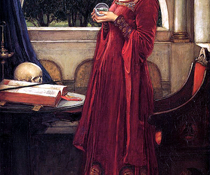 art, crystal ball, and john william waterhouse image
