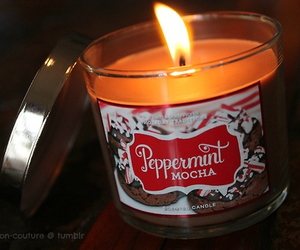 candle, christmas, and peppermint image
