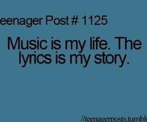 music, teenager post, and Lyrics image
