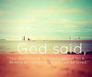 love, god, and quote image