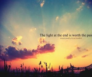 light, pain, and quote image
