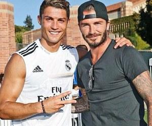 David Beckham, cristiano ronaldo, and real madrid image