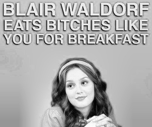 bitch, blair, and breakfast image