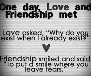 friendship, love, and smile image