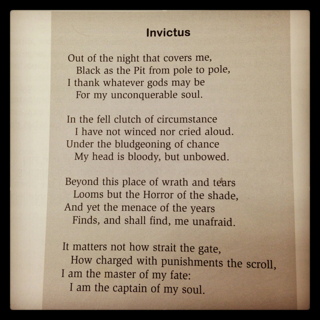 William Ernest Henley Invictus Uploaded By Caylin