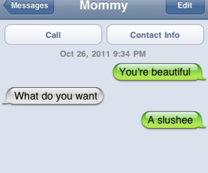 beautiful, funny, and texts image