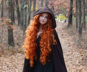 hair, brave, and merida image