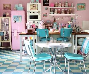 kitchen, pink, and pastel image