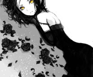 anime, black, and manga image