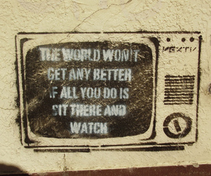 tv, world, and quote image
