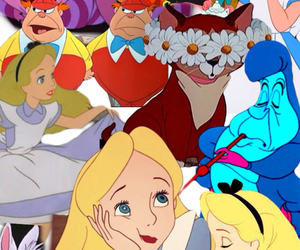 alice, alice in wonderland, and Collage image