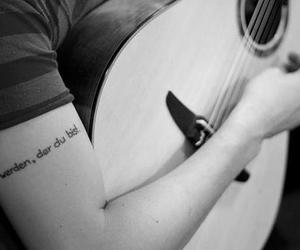 b&w, cicero, and guitar image
