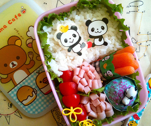 bento box, colorful, and cute image