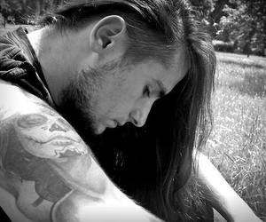 long hair, man, and metal image