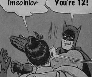 batman, funny, and robin image