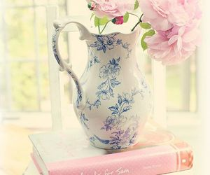 flowers, shabby chic, and book image