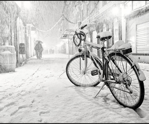 winter, snow, and bike image