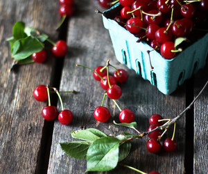 berries, leaves, and red image