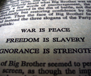1984, peace, and quote image