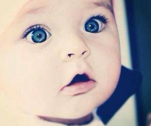 baby, cute, and blue eyes image