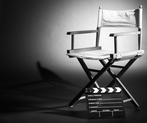 b&w, chair, and director image
