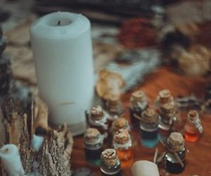 witch, candle, and wicca image