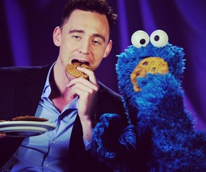 tom hiddleston, cookie monster, and cookie image