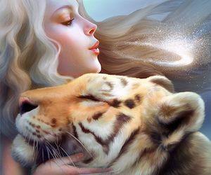 tiger, art, and fantasy image