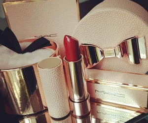 red, lipstick, and mac image