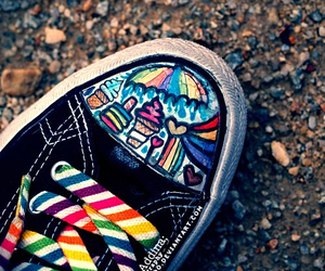 converse, shoes, and colorful image