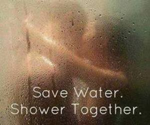 shower, love, and water image