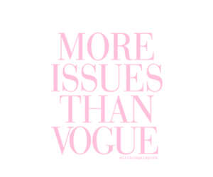 vogue, issues, and pink image