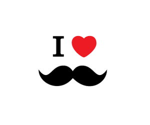 mustache, moustache, and heart image