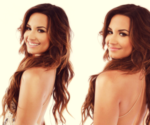 brunette, perfection, and lovato image