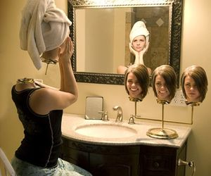 art, mirror, and surreal image
