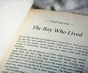 the boy who lived, chapter one, and jk. rowling image