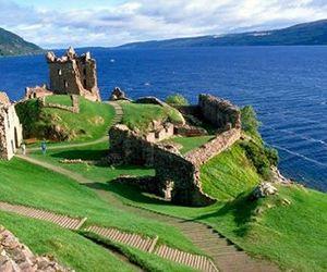 highland, landscape, and ruins image
