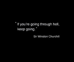 hell, quote, and winston churchill image