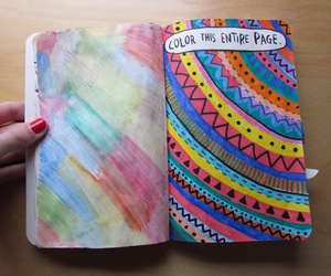 book, circle, and colorful image