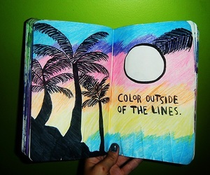 colorful, wreck this journal, and art image