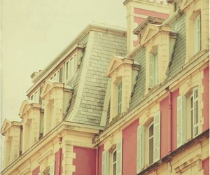 pink, house, and vintage image
