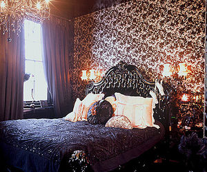 gothic and bed image