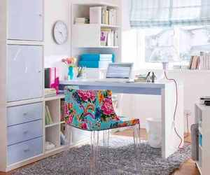 blue, decor, and girly image